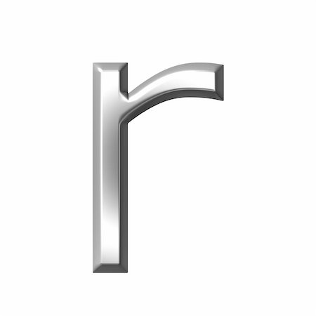 fancy letters - 3d silver letter r isolated in white Stock Photo - Budget Royalty-Free & Subscription, Code: 400-05241531