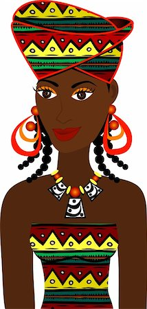 Vector of African Girl Avatar. See others in this series. Stock Photo - Budget Royalty-Free & Subscription, Code: 400-05241781