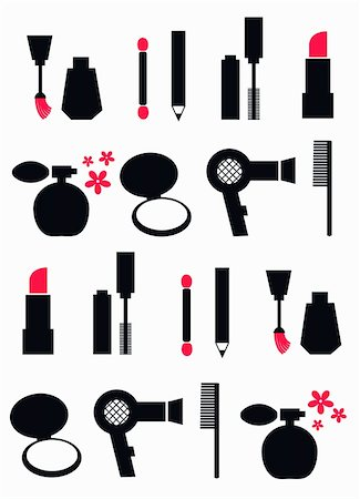 cosmetic pattern with different cosmetics Stock Photo - Budget Royalty-Free & Subscription, Code: 400-05242904