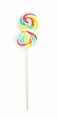 red circle lollipop - Colourful lollipop isolated on the white background Stock Photo - Budget Royalty-Free & Subscription, Code: 400-05254874