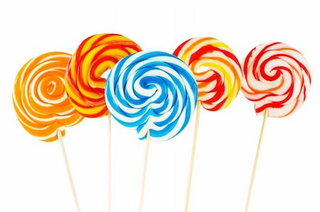 red circle lollipop - Colourful lollipop isolated on the white background Stock Photo - Budget Royalty-Free & Subscription, Code: 400-05255126