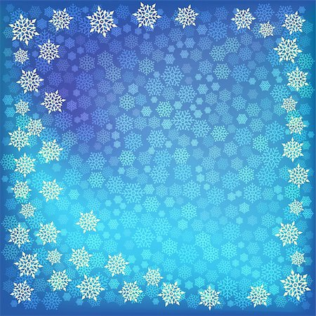 abstract christmas snowflake on a blue background Stock Photo - Budget Royalty-Free & Subscription, Code: 400-05255867