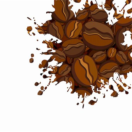 coffee background, this  illustration may be useful  as designer work Stock Photo - Budget Royalty-Free & Subscription, Code: 400-05255861