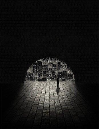 rolffimages (artist) - City Tunnel Stock Photo - Budget Royalty-Free & Subscription, Code: 400-05252259