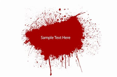 paint dripping abstract pattern - A red splat blood for your text Stock Photo - Budget Royalty-Free & Subscription, Code: 400-05252583