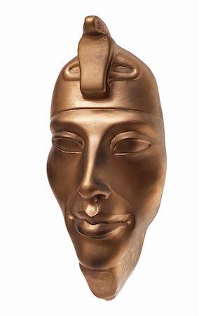 Pharaoh Amenhotep traditional ceramic mask three-quarters Stock Photo - Budget Royalty-Free & Subscription, Code: 400-05265646