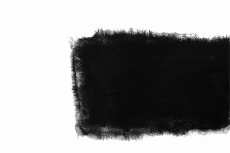 black square inkblot in a white background, Stock Photo - Budget Royalty-Free & Subscription, Code: 400-05267185