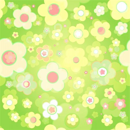 simsearch:400-04744132,k - Seamless tile-able flower background - vector wrapping paper pattern Stock Photo - Budget Royalty-Free & Subscription, Code: 400-05262201