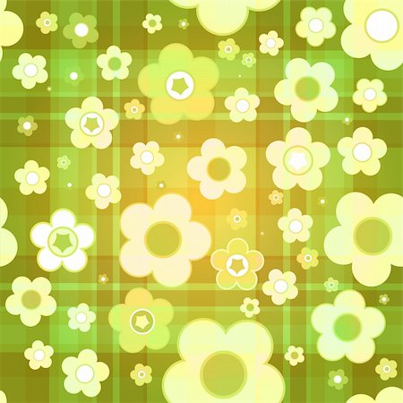 simsearch:400-04744132,k - Seamless tile-able flower background - vector wrapping paper pattern Stock Photo - Budget Royalty-Free & Subscription, Code: 400-05262202