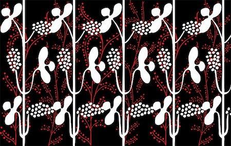 simsearch:400-04765926,k - Retro floral seamless background in editable vector format Stock Photo - Budget Royalty-Free & Subscription, Code: 400-05262703