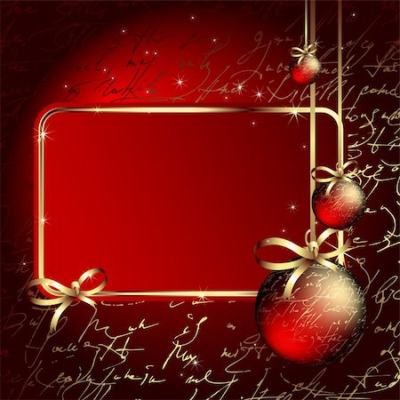 christmas background, this illustration may be useful as designer work Stock Photo - Budget Royalty-Free & Subscription, Code: 400-05263626