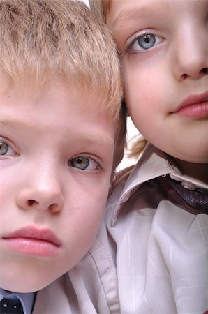 close-up portrait of two 6 years old friends Stock Photo - Budget Royalty-Free & Subscription, Code: 400-05277717