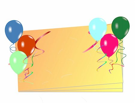 Beautiful celebration card with balloons. Vector Stock Photo - Budget Royalty-Free & Subscription, Code: 400-05271369