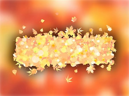 Autumnal frame with maple leaves for Thanksgiving day. EPS 8 vector file included Stock Photo - Budget Royalty-Free & Subscription, Code: 400-05271360