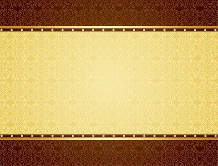 Gold background for design of cards and invitation. Vector Stock Photo - Budget Royalty-Free & Subscription, Code: 400-05271406