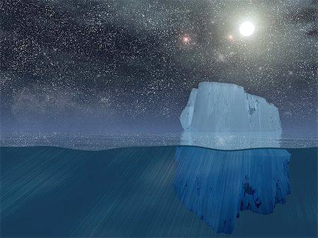 Iceberg at night Stock Photo - Budget Royalty-Free & Subscription, Code: 400-05271801