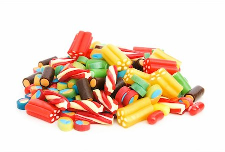 simsearch:400-04344039,k - Colourful sweets isolated on the white background Stock Photo - Budget Royalty-Free & Subscription, Code: 400-05284633