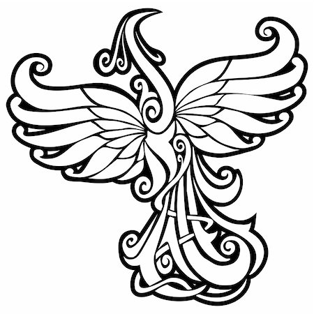 frbird - Firebird, mythical creature from Russian tales, vector illustration Stock Photo - Budget Royalty-Free & Subscription, Code: 400-05285756