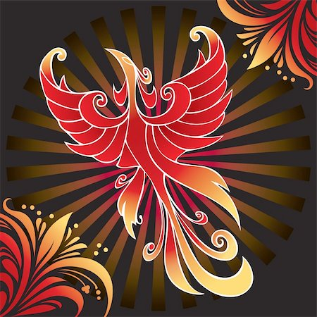 frbird - Firebird, mythical creature from Russian tales, vector illustration Stock Photo - Budget Royalty-Free & Subscription, Code: 400-05285757