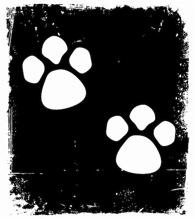 Traces of the animal on the pavement. Vector illustration Stock Photo - Budget Royalty-Free & Subscription, Code: 400-05286999
