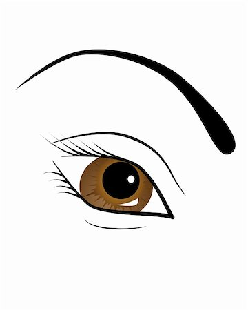 face woman beautiful clipart - Vector picture of female brown eye Stock Photo - Budget Royalty-Free & Subscription, Code: 400-05287448