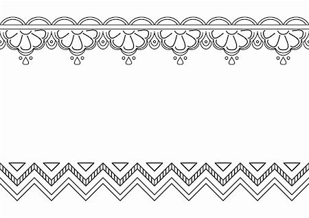Abstract vector background, seamless monochrome contours ornament Stock Photo - Budget Royalty-Free & Subscription, Code: 400-05288196