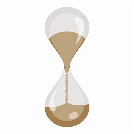 sand clock - illustration of hour watch on white background Stock Photo - Budget Royalty-Free & Subscription, Code: 400-05288924