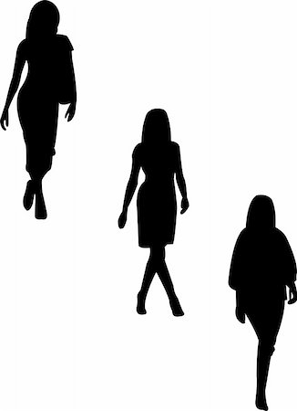 simsearch:400-04096935,k - illustration of models silhouettes - vector Stock Photo - Budget Royalty-Free & Subscription, Code: 400-05281870