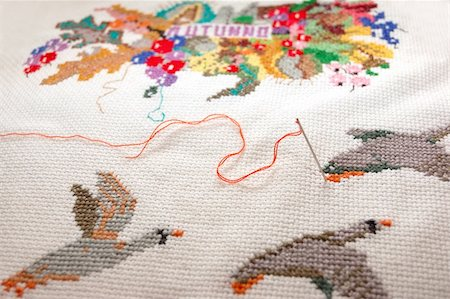 Embroidered autumn Stock Photo - Budget Royalty-Free & Subscription, Code: 400-05294110
