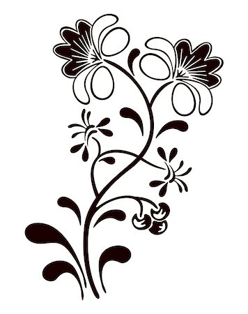 element for design corner flower vector illustration Stock Photo - Budget Royalty-Free & Subscription, Code: 400-05295143