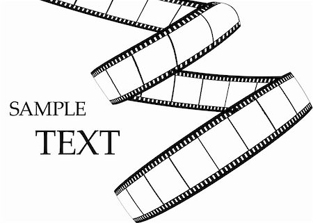 film strip - Blank film strip, on the white background Stock Photo - Budget Royalty-Free & Subscription, Code: 400-05296365