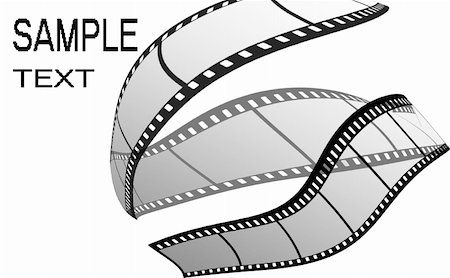 film strip - Film strip, on the white background Stock Photo - Budget Royalty-Free & Subscription, Code: 400-05296367