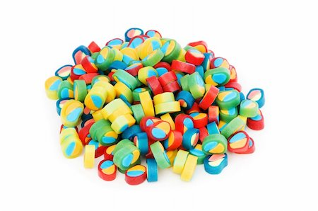 simsearch:400-04344039,k - Colourful sweets isolated on the white background Stock Photo - Budget Royalty-Free & Subscription, Code: 400-05296434