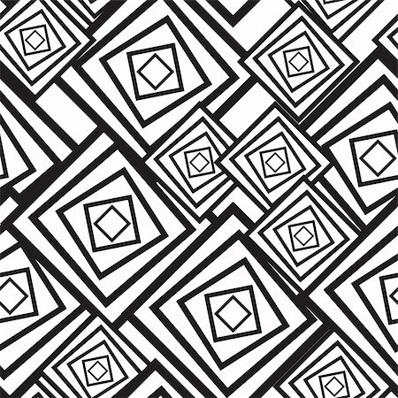 Black-and-white abstract background with squares. Seamless pattern. Vector illustration. Stock Photo - Budget Royalty-Free & Subscription, Code: 400-05299045