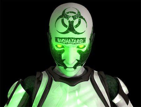darkgeometry (artist) - 3d illustration of a advanced Bio warfare cyborg soldier Stock Photo - Budget Royalty-Free & Subscription, Code: 400-05292150