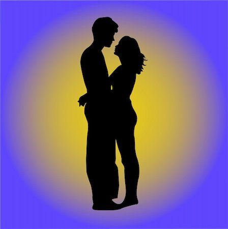 couple - vector Stock Photo - Budget Royalty-Free & Subscription, Code: 400-05306894