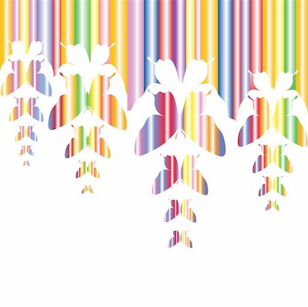Abstract colourful background with butterflies. A vector. Stock Photo - Budget Royalty-Free & Subscription, Code: 400-05307129