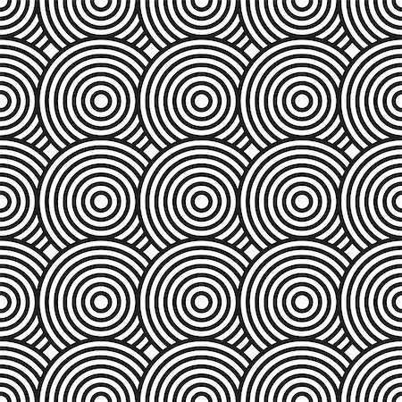 Black-and-white abstract background with circles. Seamless pattern. Vector illustration. Stock Photo - Budget Royalty-Free & Subscription, Code: 400-05301107