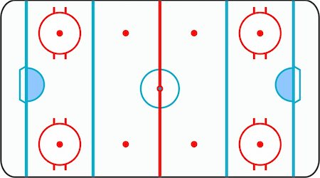 scalable - A stylized ice hockey ground with all lines on white background Stock Photo - Budget Royalty-Free & Subscription, Code: 400-05301386