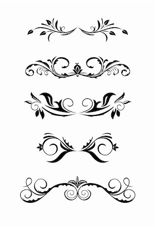 Illustration vintage borders, design elements - vector Stock Photo - Budget Royalty-Free & Subscription, Code: 400-05302072