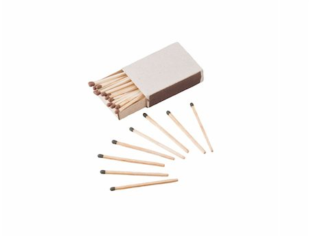 a pile of unused matches and an open matchbox Stock Photo - Budget Royalty-Free & Subscription, Code: 400-05303726