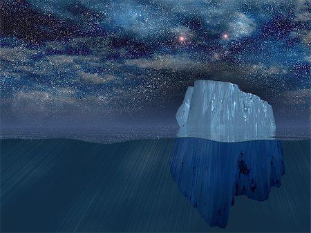 Iceberg at night Stock Photo - Budget Royalty-Free & Subscription, Code: 400-05315477