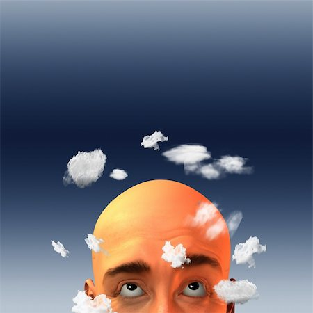 rolffimages (artist) - Head in clouds Stock Photo - Budget Royalty-Free & Subscription, Code: 400-05315504
