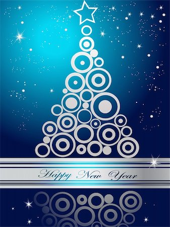 silver box - Silver  and blue Happy New Year  background Stock Photo - Budget Royalty-Free & Subscription, Code: 400-05315773