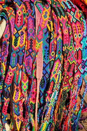 Chiapas Mexico handcrafts belts and bracelets colorful Stock Photo - Budget Royalty-Free & Subscription, Code: 400-05316110