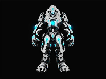 darkgeometry (artist) - 3d illustration of a advanced battle robot Stock Photo - Budget Royalty-Free & Subscription, Code: 400-05317591