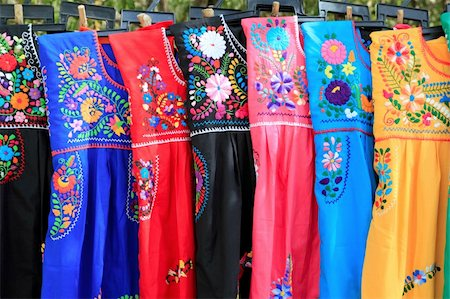 Mayan woman dress flowers embroidery Yucatan Mexico Stock Photo - Budget Royalty-Free & Subscription, Code: 400-05318691