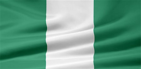 High resolution flag of Nigeria Stock Photo - Budget Royalty-Free & Subscription, Code: 400-05324130
