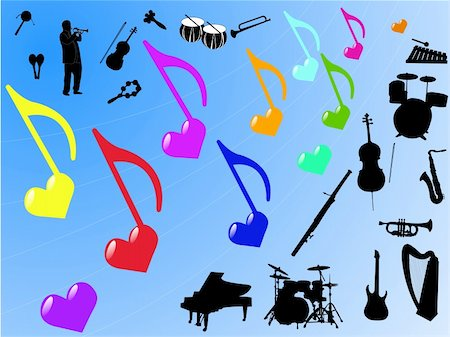 music element - vector Stock Photo - Budget Royalty-Free & Subscription, Code: 400-05324488