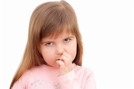 raysay (artist) - little girl picking nose Stock Photo - Budget Royalty-Free & Subscription, Code: 400-05325403